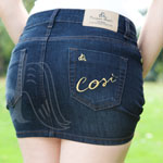 Stile D'Oro Denim Mini Skirt